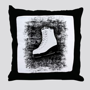 Graffiti Ice Skate Throw Pillow