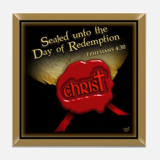 Sealed Unto Redemption Tile Coaster