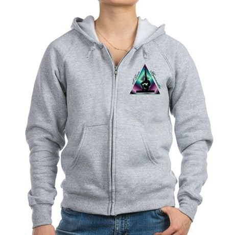 I Love Gymnastics Triangle #2 Women's Zip Hoodie