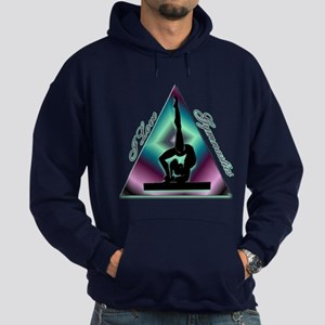 I Love Gymnastics Triangle #2 Hoodie (dark)