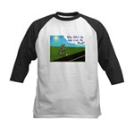 Why didn't the egg? Kids Baseball Jersey