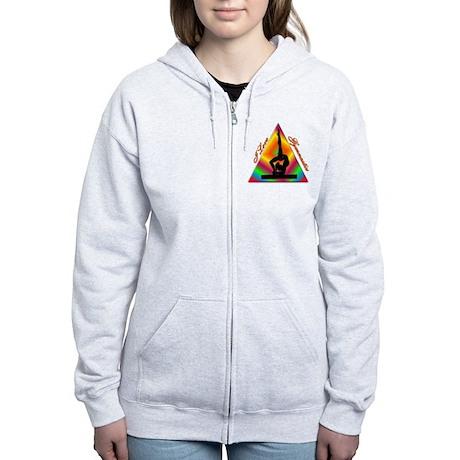 I Love Gymnastics Triangle #4 Women's Zip Hoodie