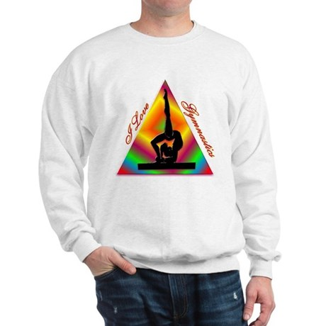 I Love Gymnastics Triangle #4 Sweatshirt