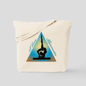 I Love Gymnastics Triangle #5 Tote Bag