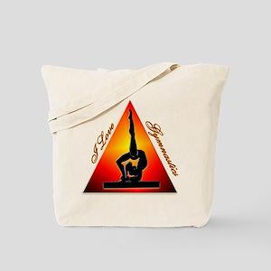 I Love Gymnastics Triangle #7 Tote Bag