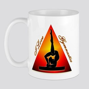 I Love Gymnastics Triangle #7 Mug