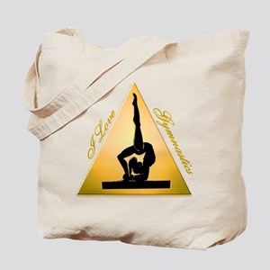 I Love Gymnastics Triangle #6 Tote Bag