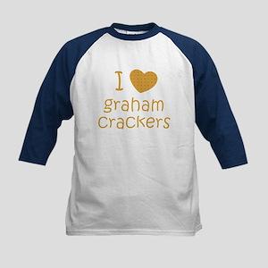 I love graham crackers Kids Baseball Jersey