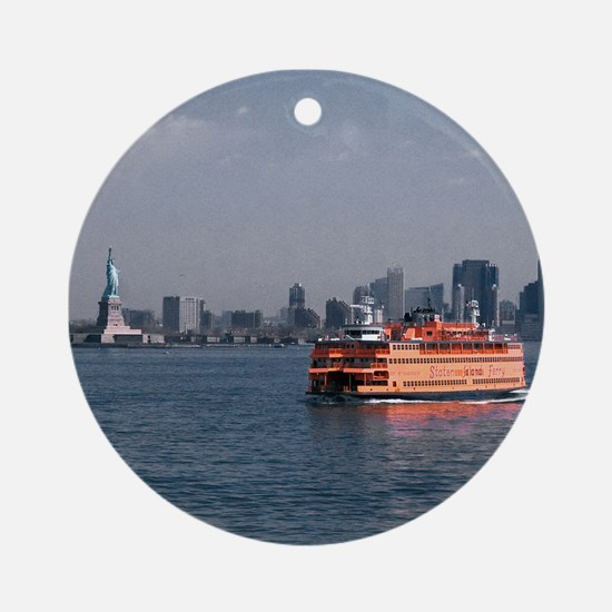 Staten Island Ferry Ornament (Round)
