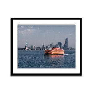 Staten Island Ferry Framed Panel Print