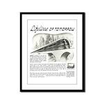 Seaboard Railway 1945 Framed Panel Print