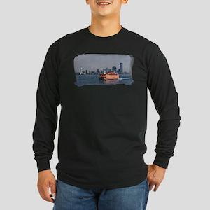 Staten Island Ferry Long Sleeve Dark T-Shirt