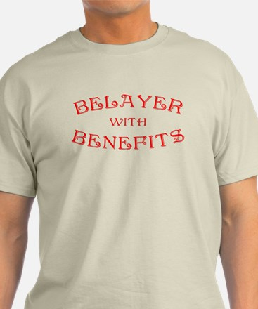 Belayer With Benefits T-Shirt
