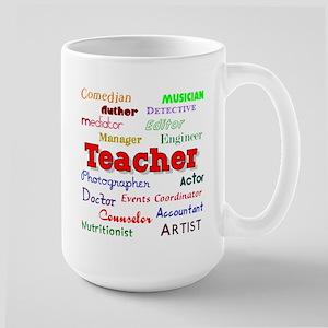 Teachers Wear Many Hats Teach Large Mug