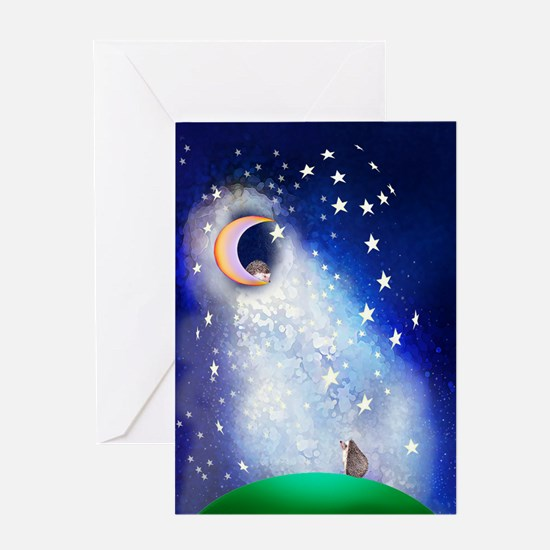 Stars and Moon Greeting Card