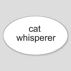 cat whisperer Oval Sticker