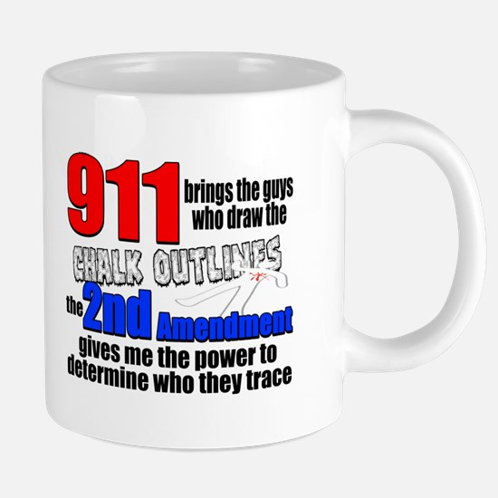 911 Chalk Outlines 20 oz Ceramic Mega Mug
