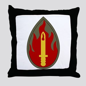Blood and Fire Throw Pillow