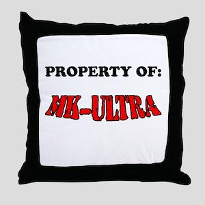 Property of MK-ULTRA Throw Pillow