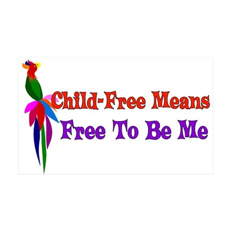 Child-Free To Be Me 35x21 Wall Decal