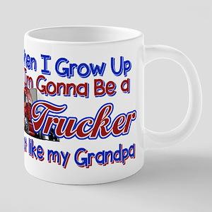 When I Grow Up... Grandpa 20 oz Ceramic Mega Mug