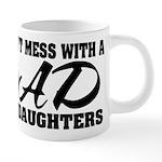 Dad with Daughters 20 oz Ceramic Mega Mug