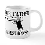 FATHERGUN.png 20 oz Ceramic Mega Mug