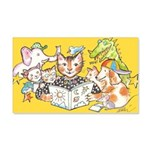Library Cat 22x14 Wall Peel