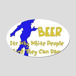 Beer Dancers 22x14 Oval Wall Peel
