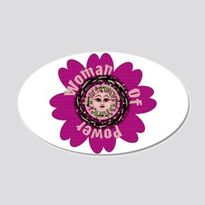 Woman Of Power Flower 20x12 Oval Wall Decal