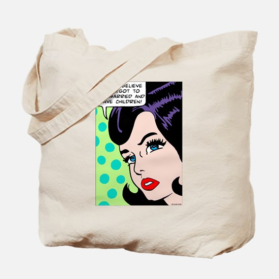 I can't believe, pop art girl Tote Bag