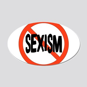 No To Sexism 22x14 Oval Wall Peel