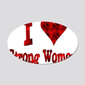 I Heart Strong Women 22x14 Oval Wall Peel