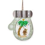 Desert Island Christmas Mitten Ornament