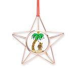 Desert Island Christmas Copper Star Ornament