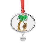 Desert Island Christmas Oval Year Ornament