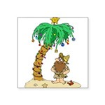 Desert Island Christmas Sticker