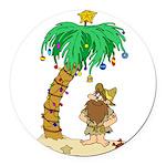 Desert Island Christmas Round Car Magnet