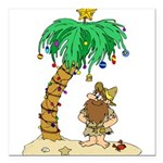 "Desert Island Christmas Square Car Magnet 3"" x 3"""