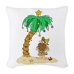 Desert Island Christmas Woven Throw Pillow