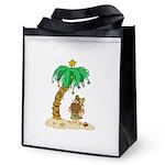 Desert Island Christmas Reusable Grocery Tote Bag