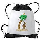 Desert Island Christmas Drawstring Bag