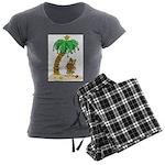Desert Island Christmas Women's Charcoal Pajamas