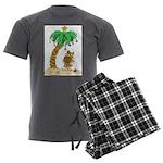 Desert Island Christmas Men's Charcoal Pajamas