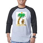 Desert Island Christmas Mens Baseball Tee