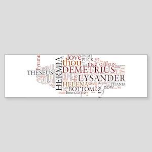 Midsummer Night's Wordle Sticker (Bumper)
