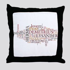 Midsummer Night's Wordle Throw Pillow
