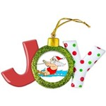 Waterski Santa Joy Ornament