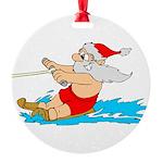 Waterski Santa Round Ornament