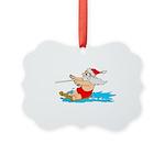Waterski Santa Picture Ornament